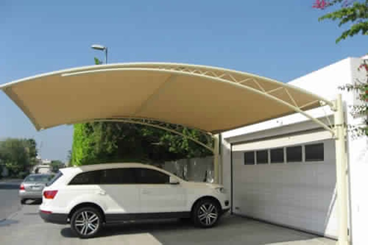 A stylish and cost-effective car parking shade sail
